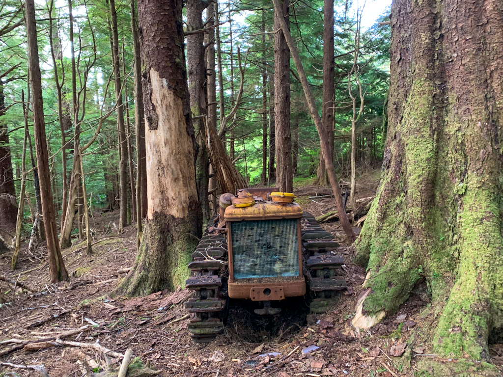 Abandoned tractor at Cape Scott