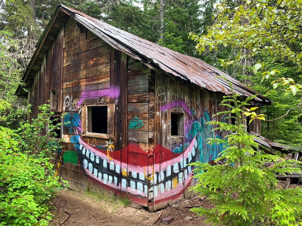 An abandoned building at the Parkhurst Ghost Town in Whistler, BC