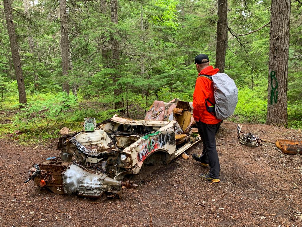 Abandoned car at Parkhurst