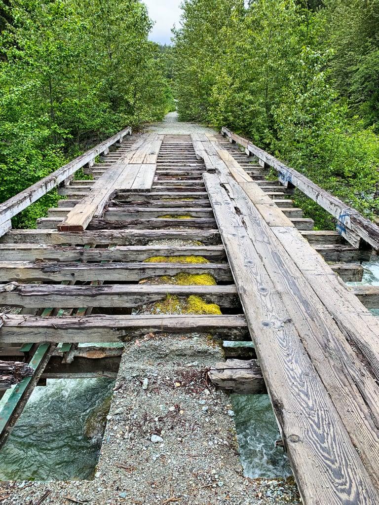 Deteriorating bridge in Whistler, BC