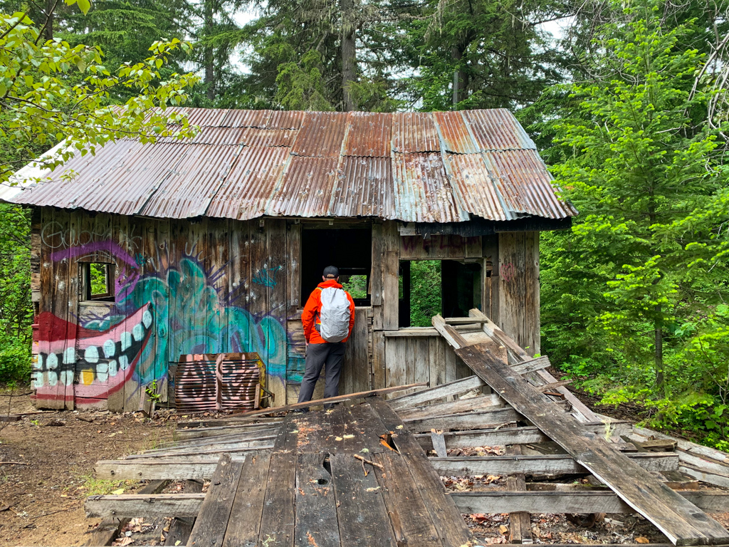 Abandoned cabin in the woods near Whistler, BC