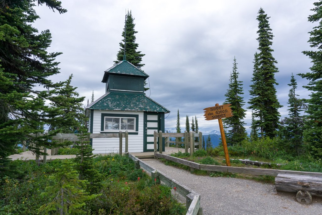 The historic fire lookout at Mount Revelstoke National Park