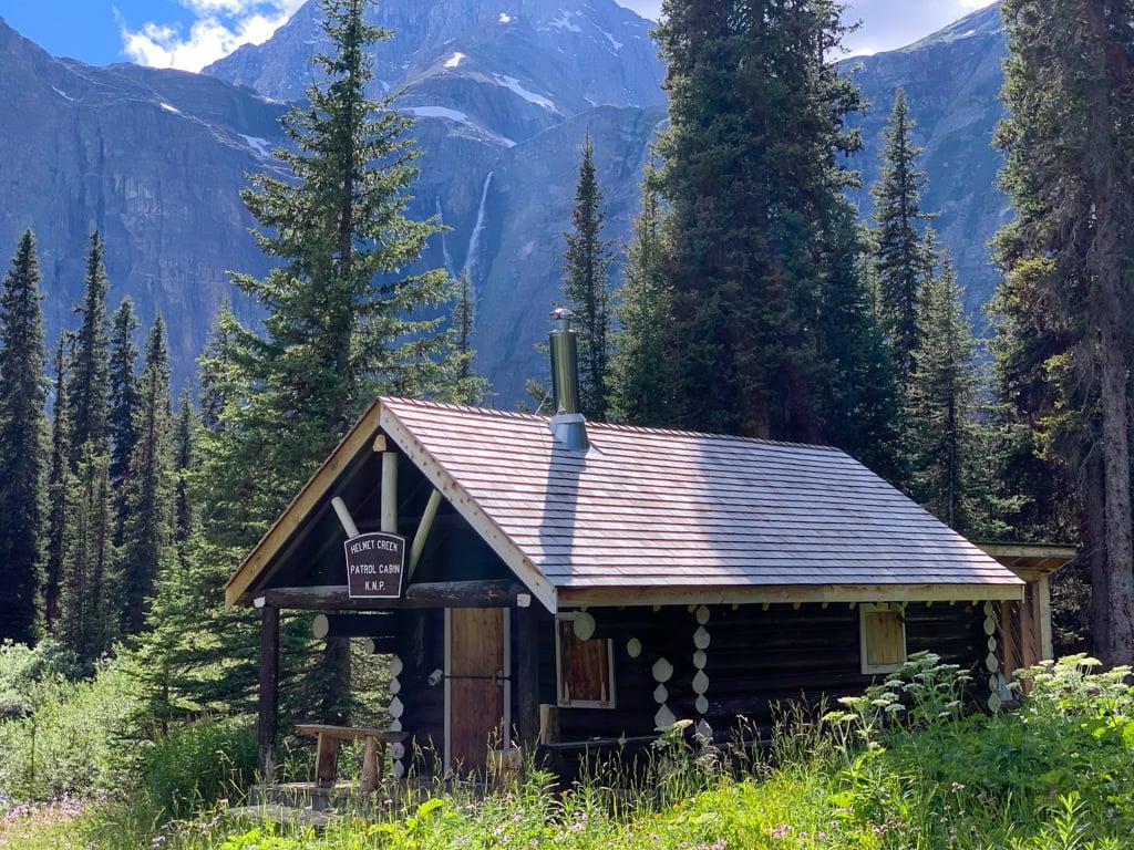 Helmet Creek Warden Cabin on the Rockwall Trail