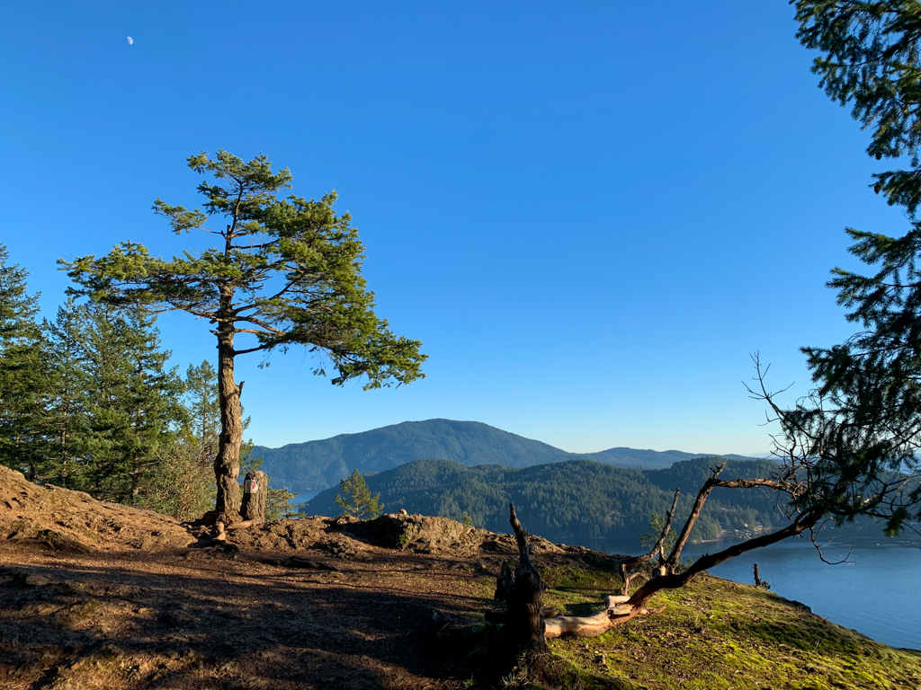 Rocky summit of Soames Hill on the Sunshine Coast, BC