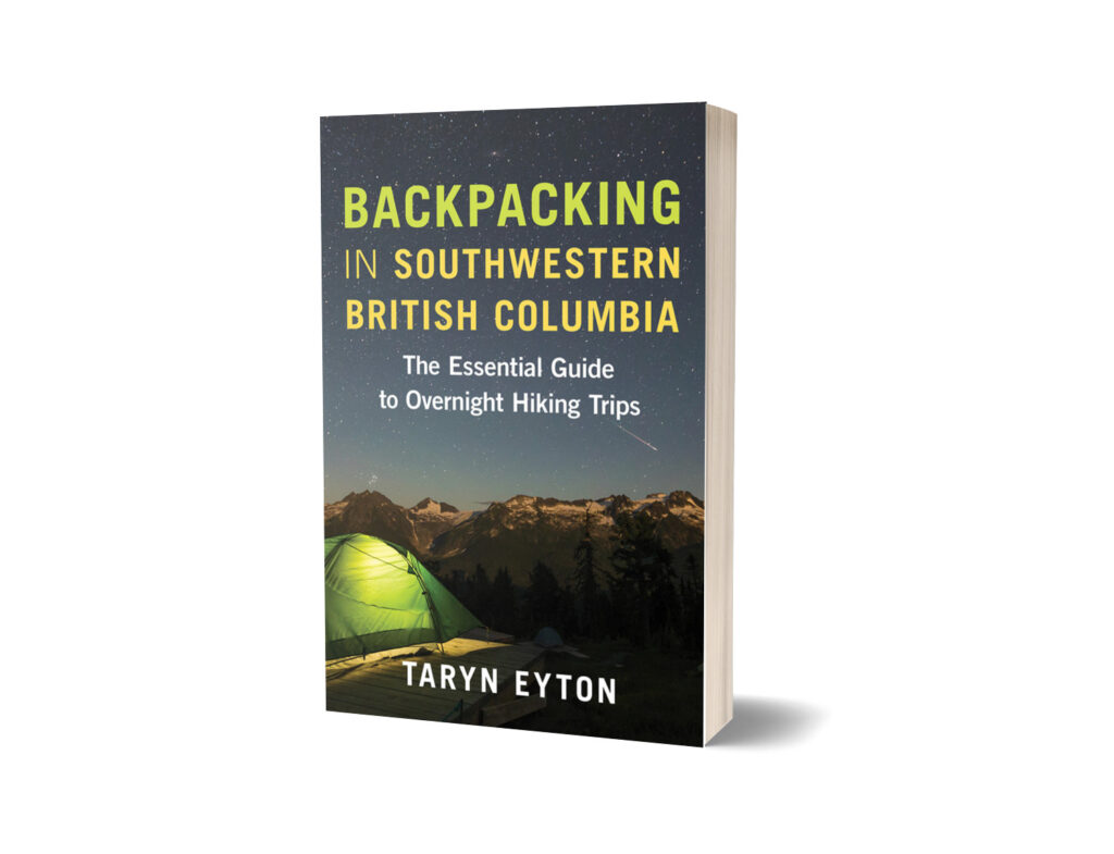 Book cover of Backpacking in Southwestern British Columbia by Taryn Eyton