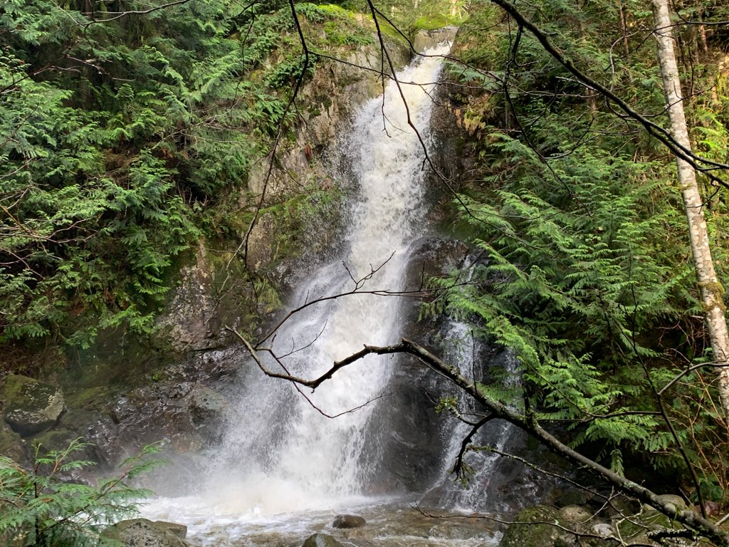 Langdale Falls in Gibsons, BC - one the best things to do on the Sunshine Coast