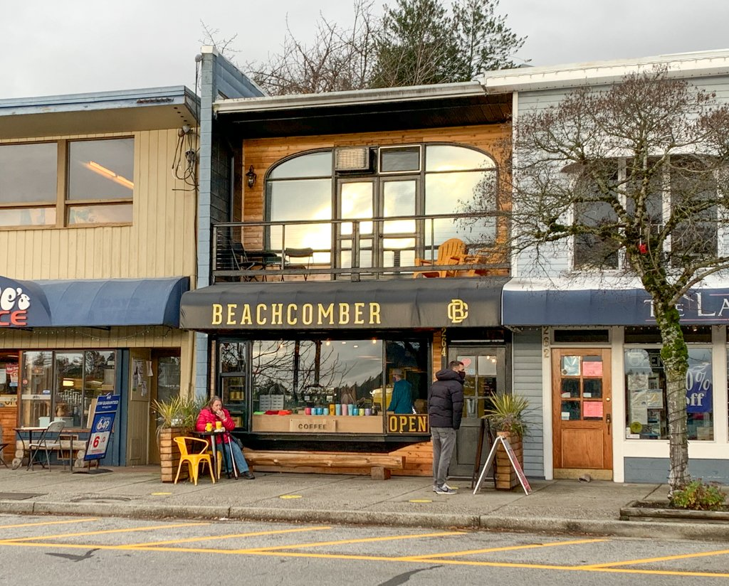 Beachcomber Coffee in Gibsons - one of the best places to eat on the Sunshine Coast, BC