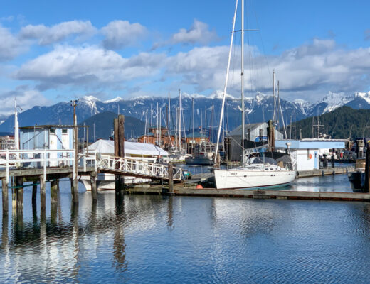 Marina in Gibsons Landing - one of the best things to do on the Sunshine Coast, BC