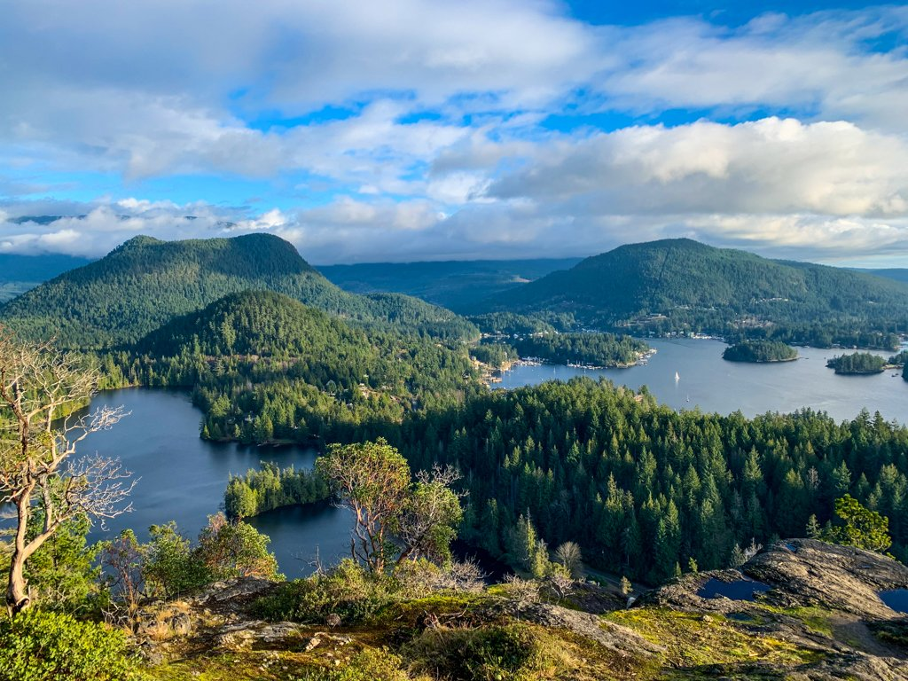 Looking down on Pender Harbour on the Sunshine Coast, BC