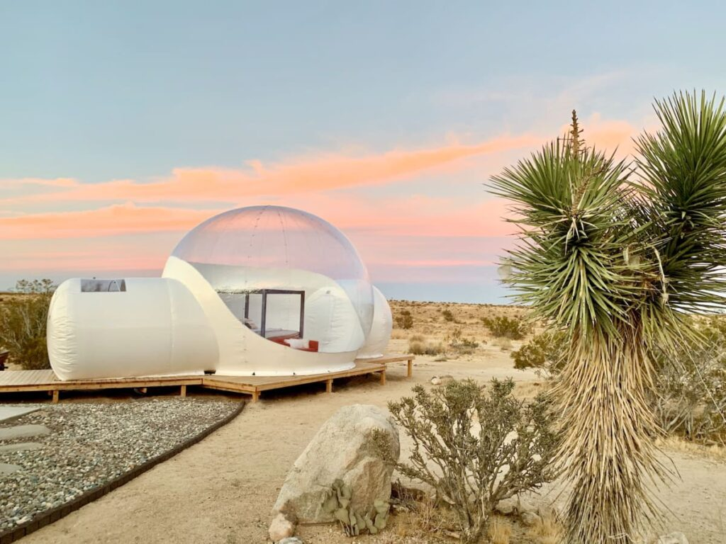 Sleep in a unique bubble tent near Joshua Tree National Park