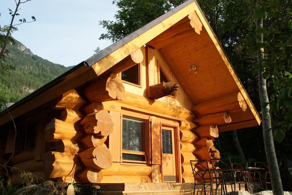 Porteau Cove log cabin at Porteau Cove Provincial Park near Vancouver