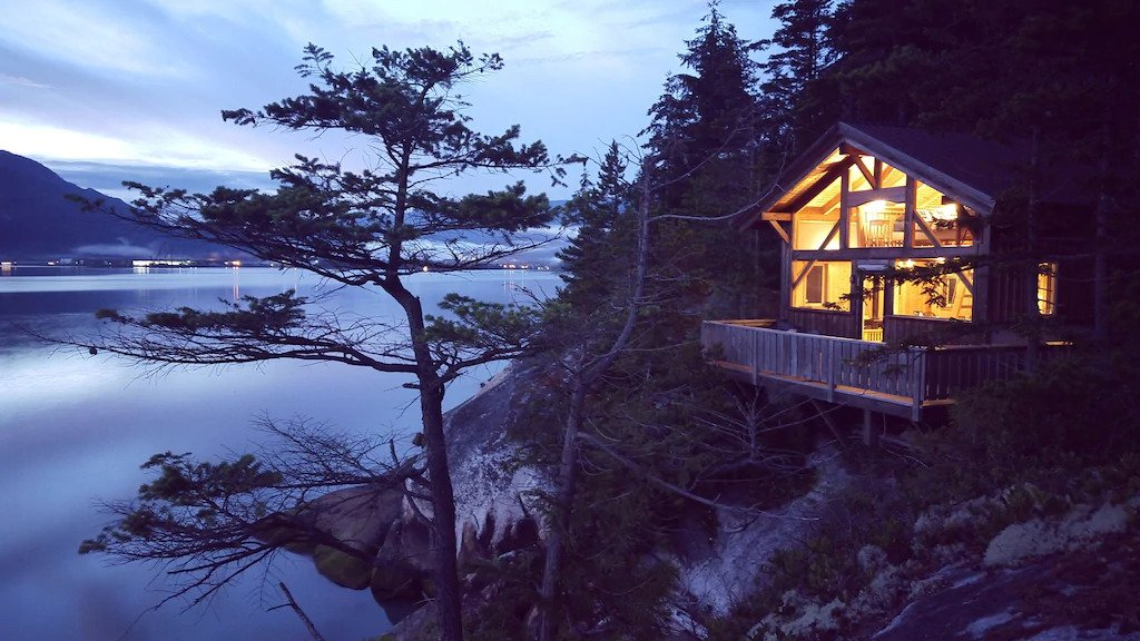 Waterfront cabin in Squamish.