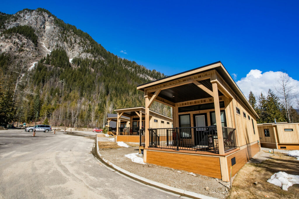 Cabins at Boulder Mountain Resort in Revelstoke, BC