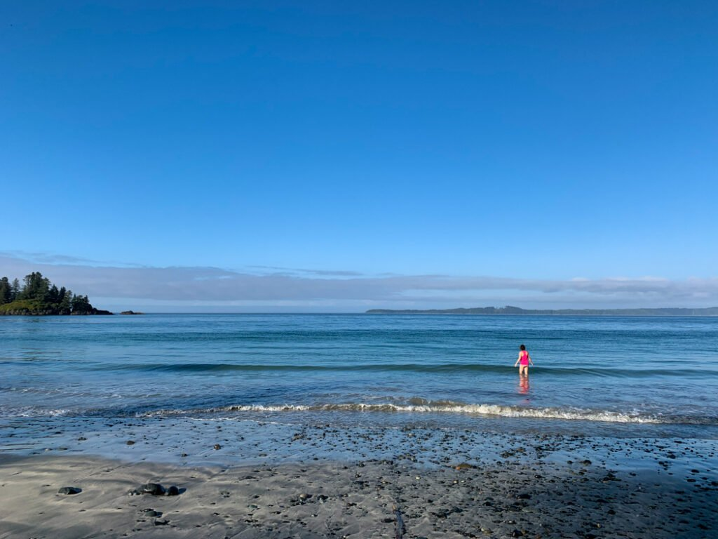 Swimming at Cape Sutil
