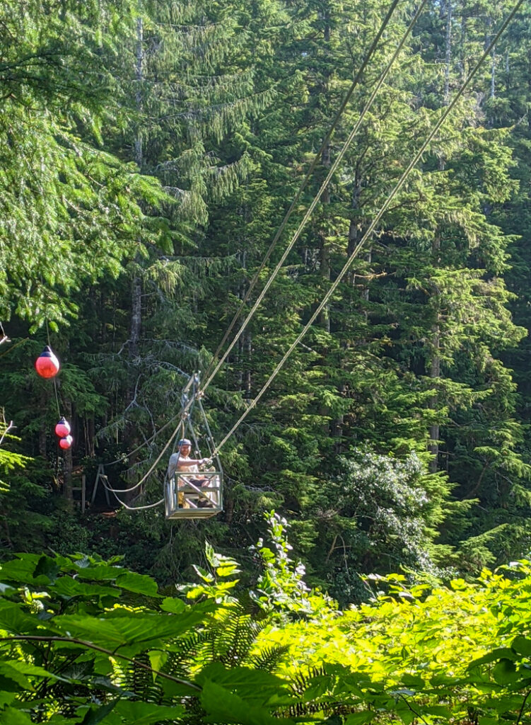 Nahwitti River cable car