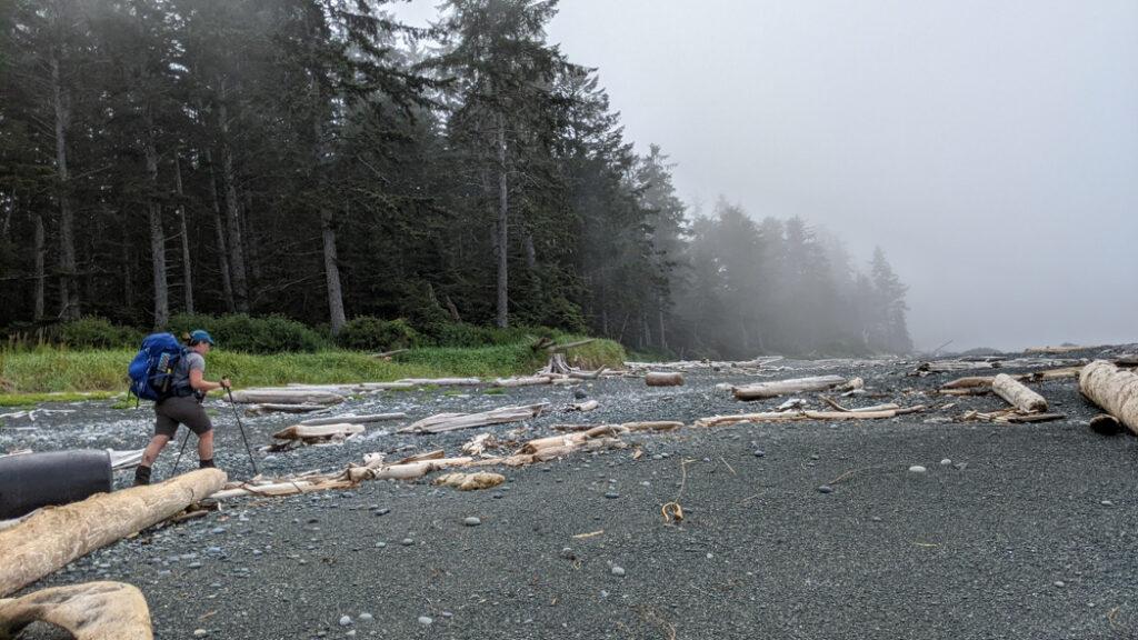 Beach hiking on the North Coast Trail
