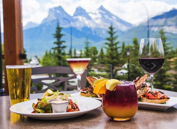 Food at the Iron Goat Pub and Grill in Canmore