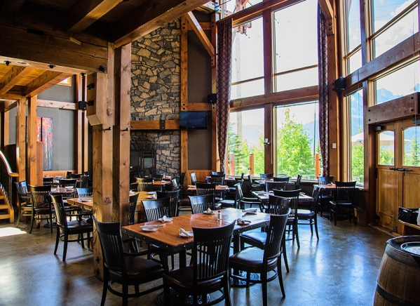 Interior of the Iron Goat pub and grill in Canmore